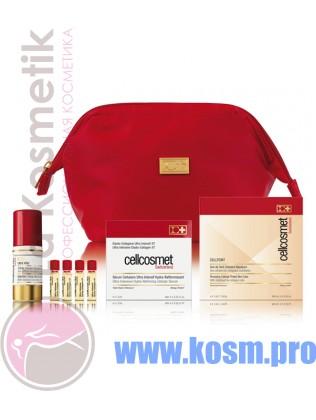 Cellcosmet  Дорожный набор в красной сумочке